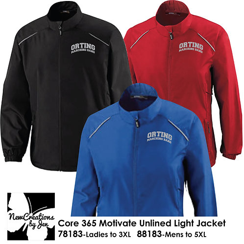 OMB 78183 - Core 365 Ladies Motivate Unlined Light Jacket