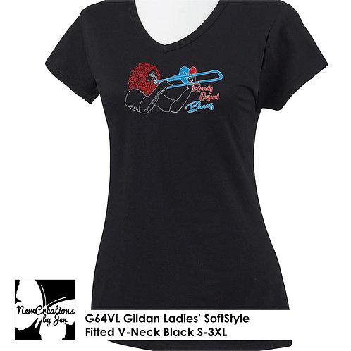R.O.B. G64VL Gildan Ladies' SoftStyle Fitted V-Neck T-Shirt