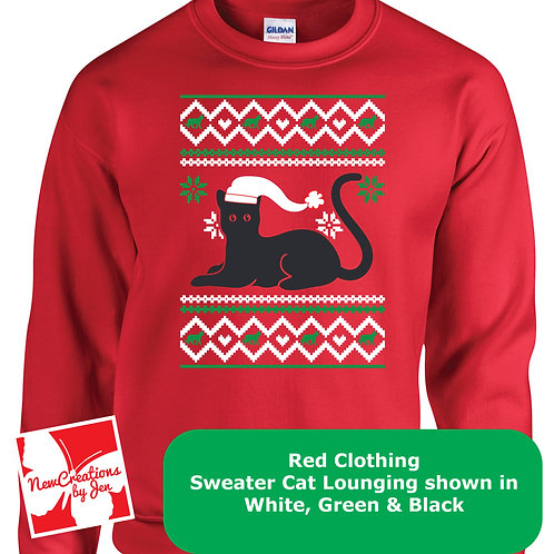 Christmas Cat Basic Crewneck Sweatshirt G180