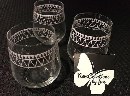 Custom Tribal Wrap Stemless Glasses