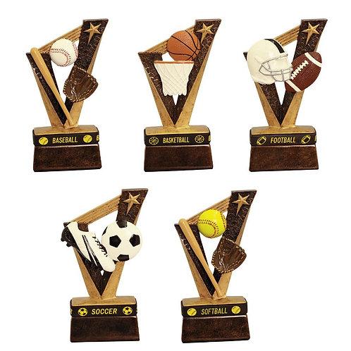 "6 1/2"" Trophybands Resin Trophy - Various options"
