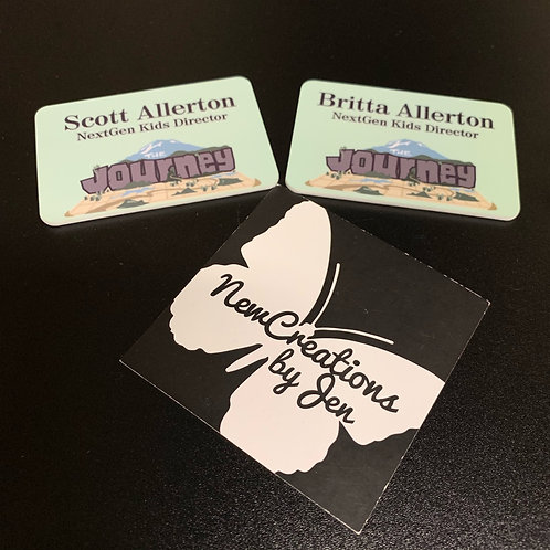 Name Badges with Magnet Backing