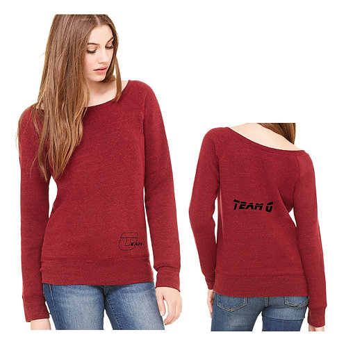 Team O 7501 Bella Canvas Ladies' Sponge Fleece Wide Neck Sweatshirt
