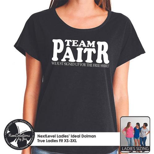 TWR TEAM PAITR - NextLevel Ladies' Dolman T-Shirt