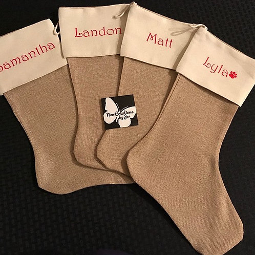 Personalized Christmas Stockings - 12 x 18