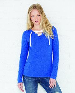LA3538 Ladies' Long-Sleeve Lace-Up T-Shirt