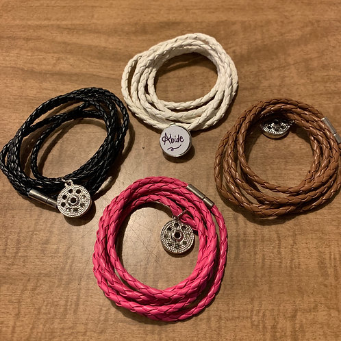 Multi-Layer Snap Bracelets with full color printed charm