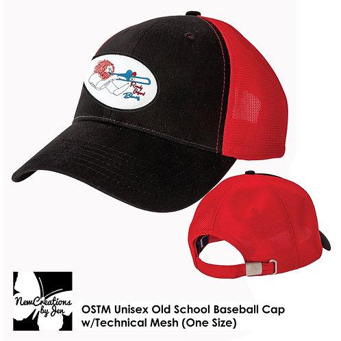 R.O.B. OSTM BA Old School Baseball Cap w/Technical Mesh