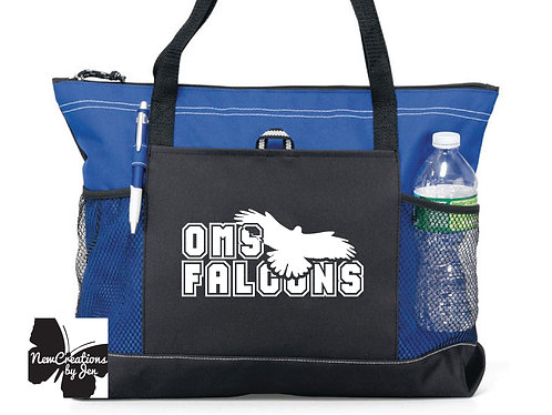 Falcon Fan Large Custom Zippered Bag (1100)