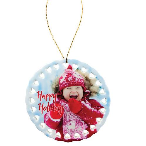 Personalized Ceramic Photo Ornaments