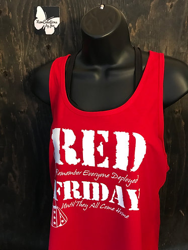 R.E.D. 6338 Next Level Ladies' Gathered Racerback Tank