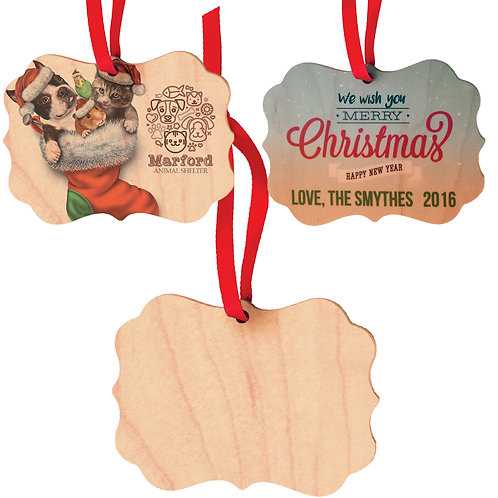 Personalized Wood Photo Ornaments