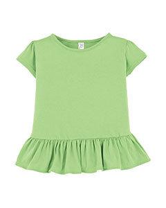 3327 Toddler Ruffle Fine Jersey T-Shirt