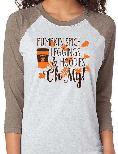 Pumpkin Spice, Leggings Raglan