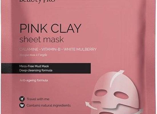 Pink clay sheet mask
