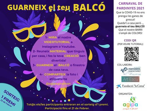 Guarneix el teu BALCÓ! 🌈 carnaval de PARDINYES '21