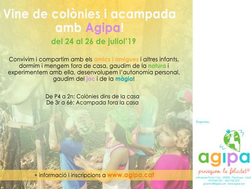 Vine a les Colònies i Campaments d'Agipa!