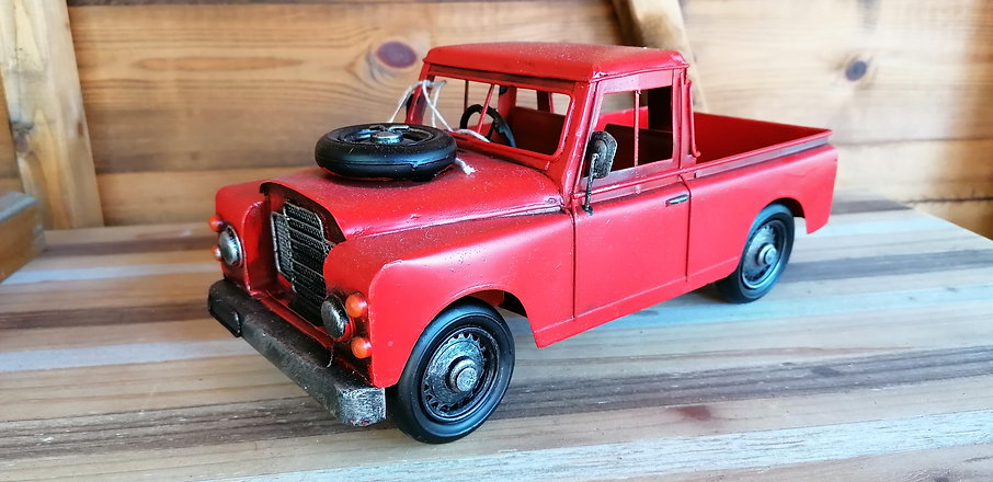 Red Model Pick Up Truck at Greens Home a