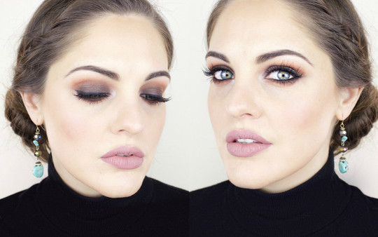 Brown Smokey Eyes with Morphe 350 Palette.