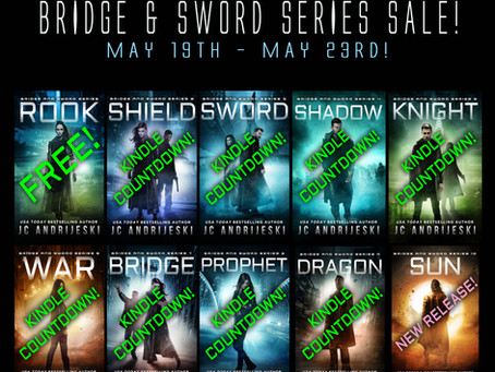 Correction on Kindle Countdown for BRIDGE (Bridge & Sword #7) - May 21st!!