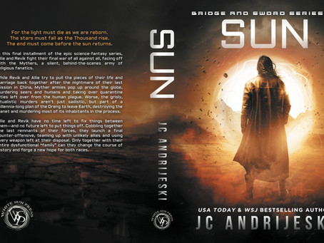 SUN (Bridge & Sword #10) now in paperback format!