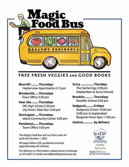 2021 Magic Food Bus Times Poster
