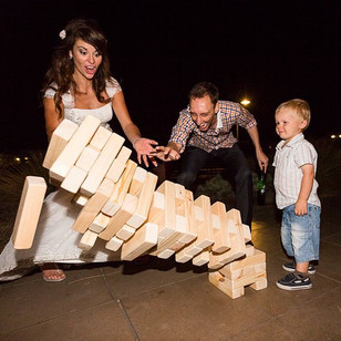 Wedding jenga fun! Great for all ages!__