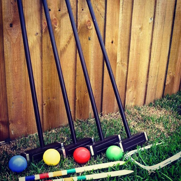 Croquet, an old time classic favorite.__
