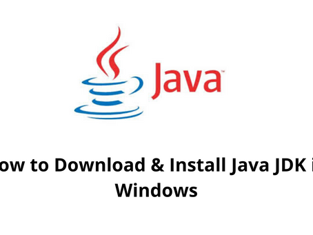 How to Download & Install Java JDK  in Windows