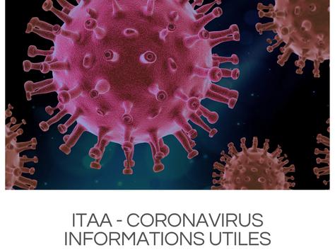 ITAA - Communication officielle concernant les mesures prises suite à la pandémie Coronavir