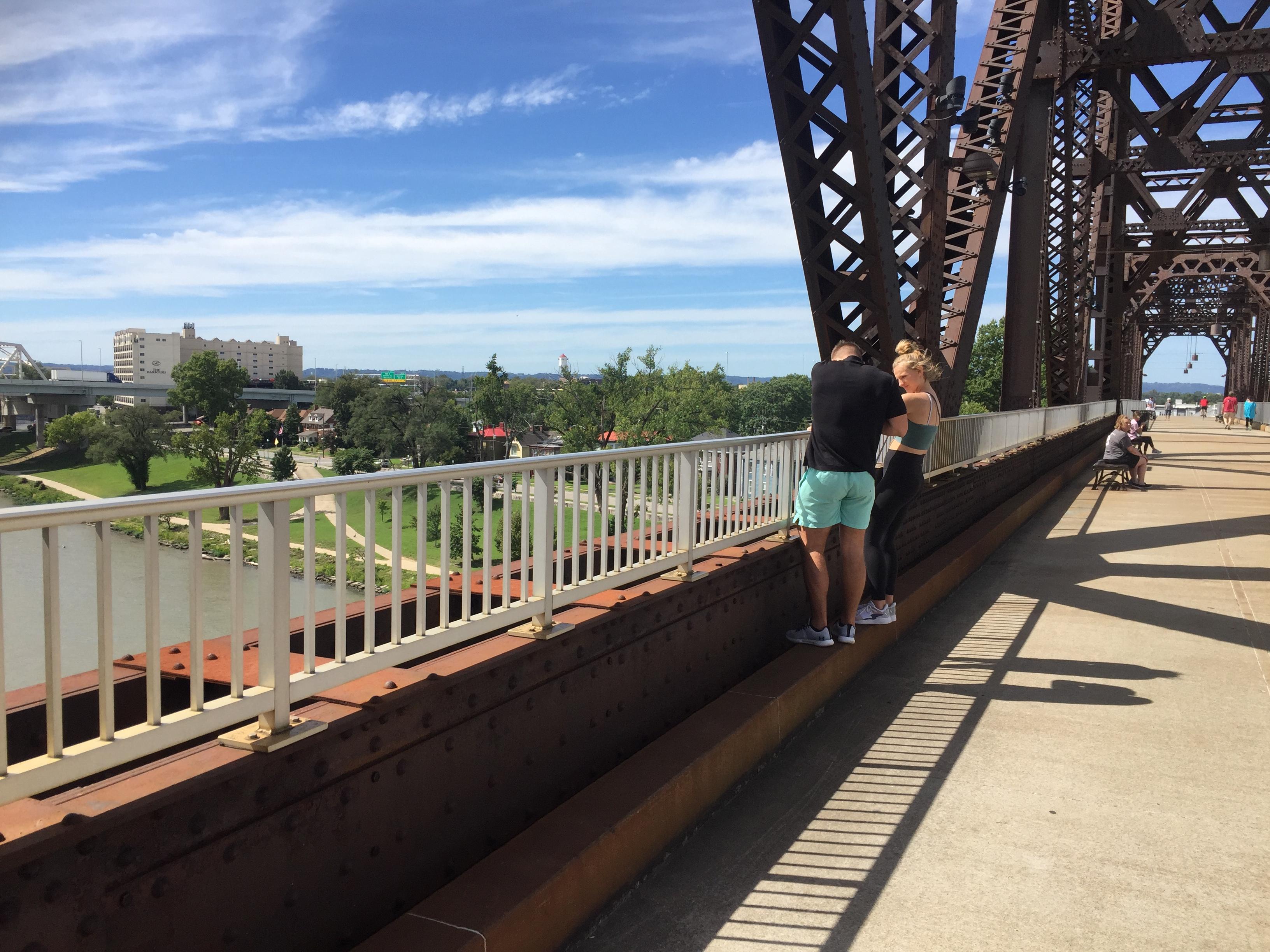 Big Four Bridge crossing the Ohio River in Jeffersonville