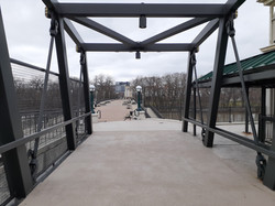 West Main Street Bridge in Lafayette crossing the Wabash River next to the Amtrak Station