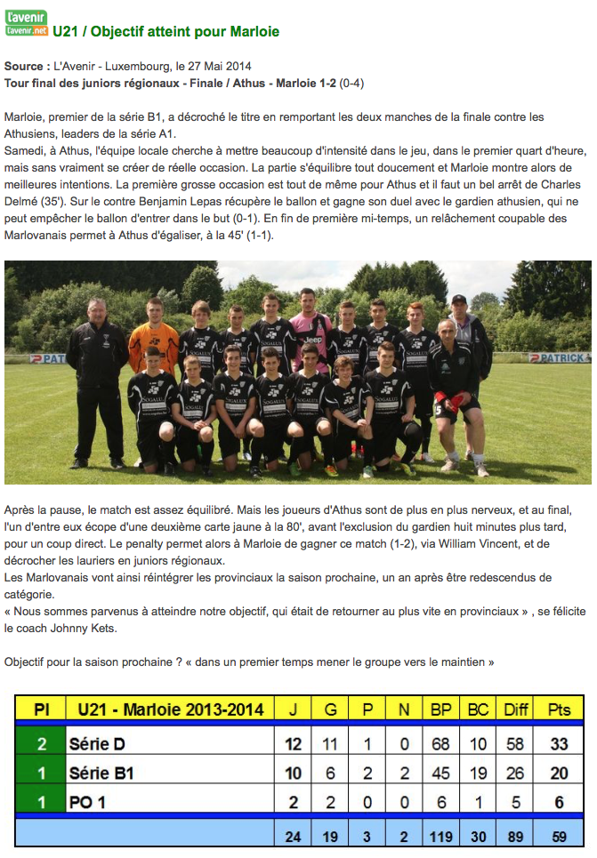 U21 - 2014