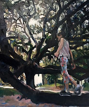 Mia Merlin Girl climbing a tree in Savannah.jpg