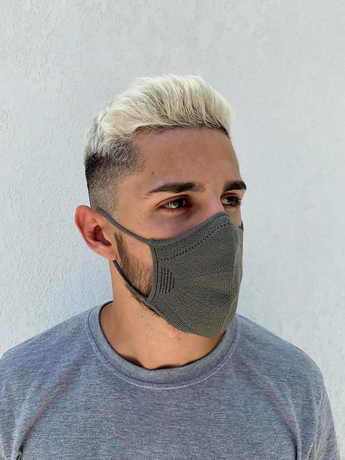 Kit 3 Máscaras Masculina 3D Knitting Free