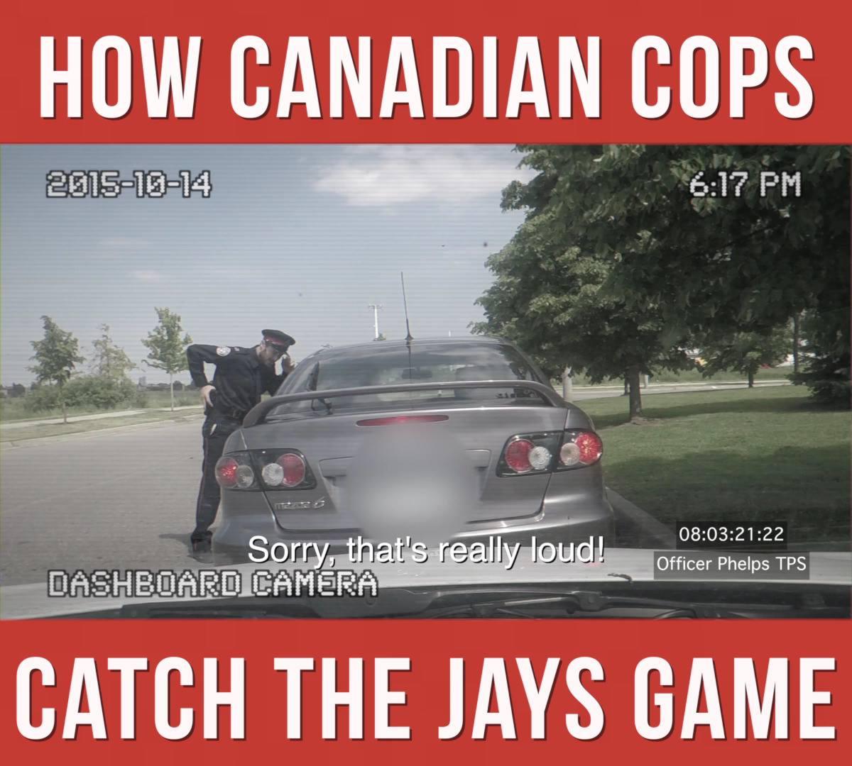 cops catch jays game