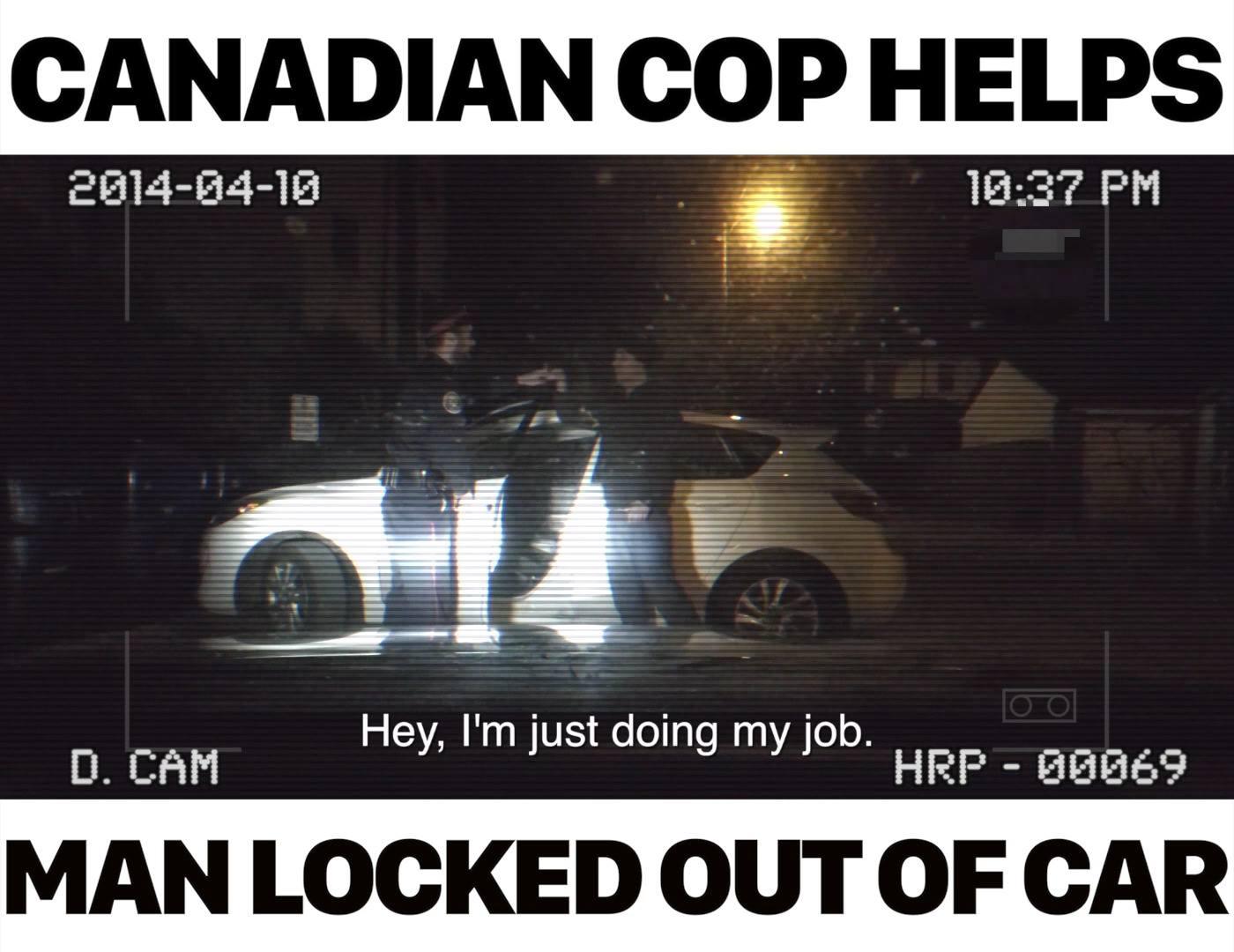 Cop Helps Car Theft