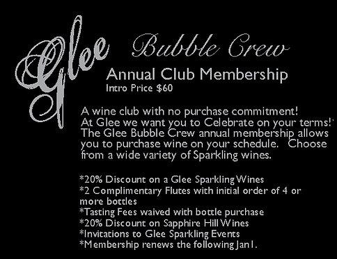 Membership Glee Bubble Crew