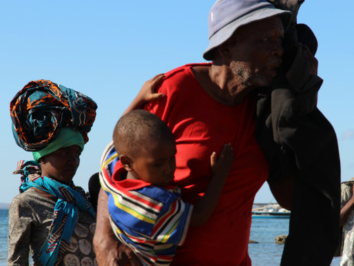 Survivors disembarked  in Paquitequete