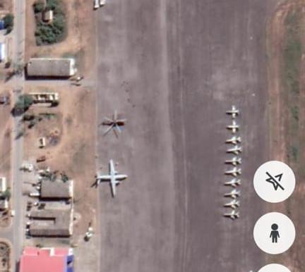 Bombardeiros MIG-21 da Força Aérea Moçambicana a Caminho de Maputo