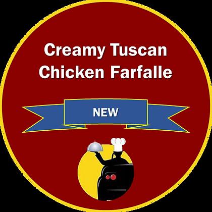 Creamy Tuscan Chicken Farfalle