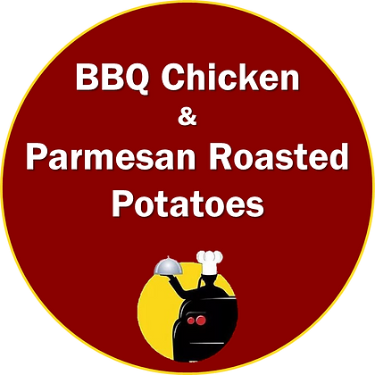 BBQ Chicken with Parmesan Roasted Potatoes