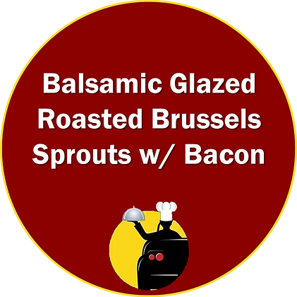 Balsamic Glazed Roasted Brussels Sprouts with Bacon