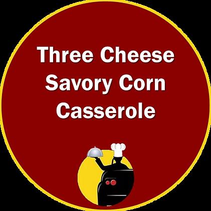 Three Cheese Savory Corn Casserole