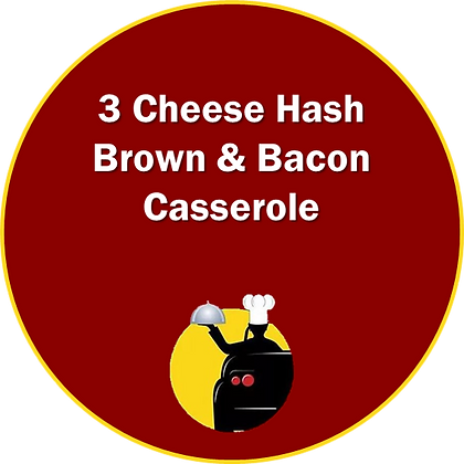 3 Cheese Hash Brown & Bacon Casserole