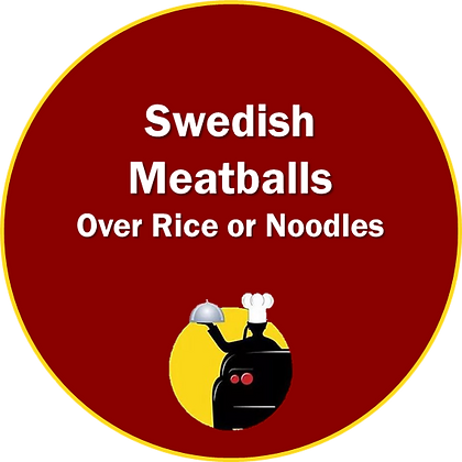 Swedish Meatballs over Noodles or Rice