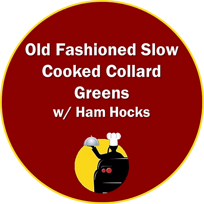 Old Fashioned Slow Cooked Collard Greens with Ham Hocks