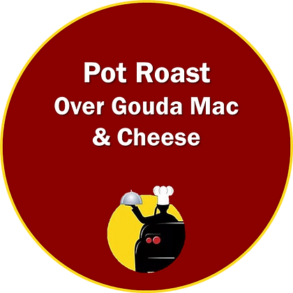 Pot Roast on Gouda Mac & Cheese