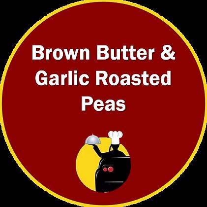 Brown Butter & Garlic Roasted Peas