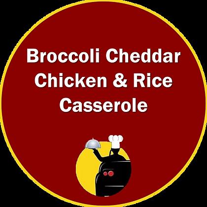 Broccoli Cheddar Chicken & Rice Casserole